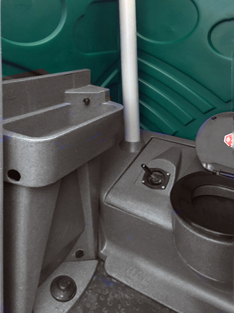 Wycombe Toilet Hire Chemical Unit interior
